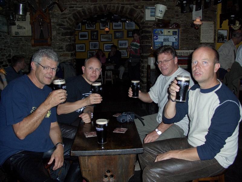 Inne på en av de mange pubbene vi var innom i løpet av turen.