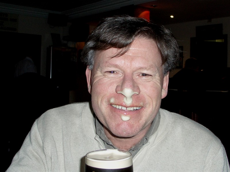 Herlig;-) med en pint tappet i Ireland.